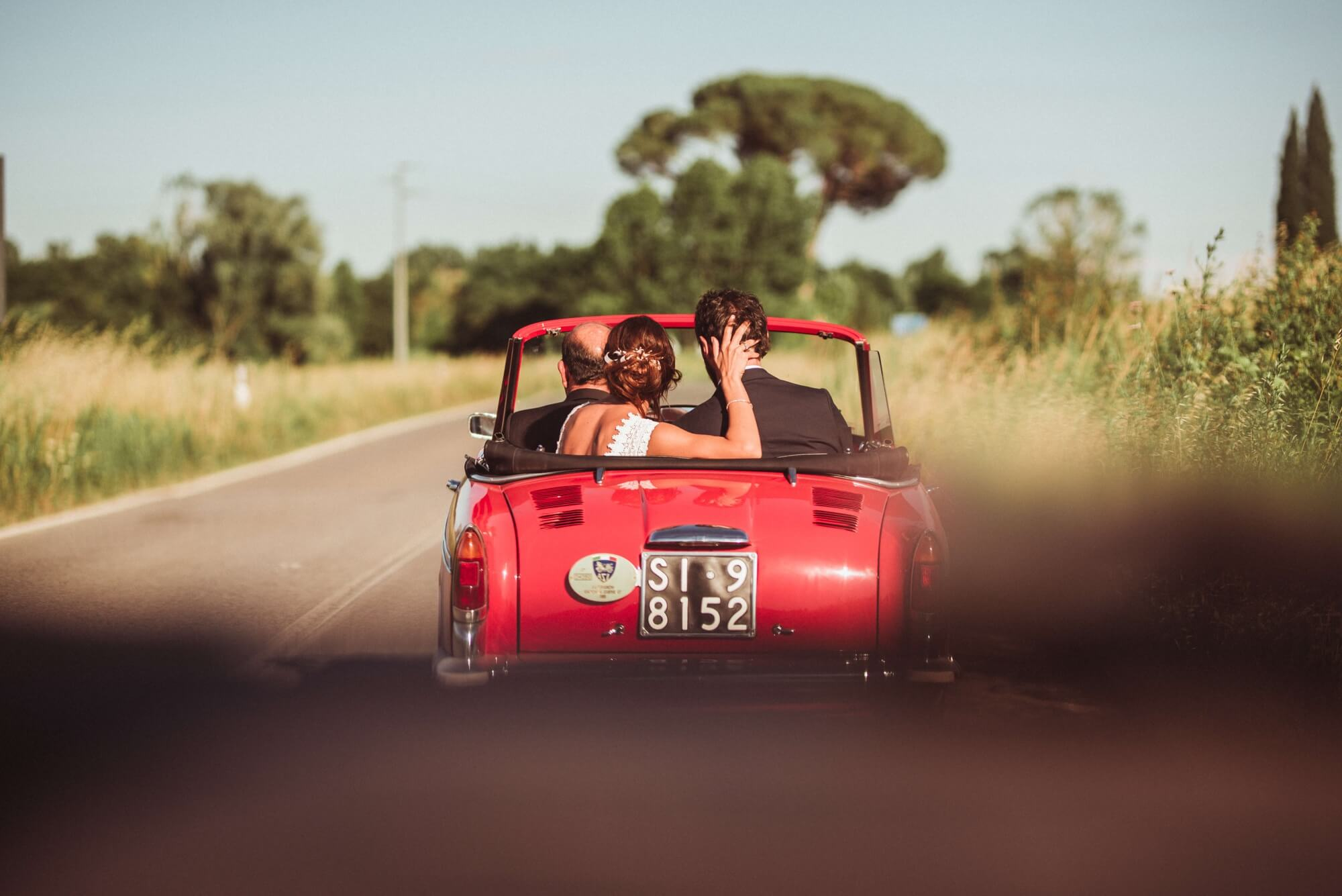Classic car rental for destination wedding in Tuscany Chianti Florence Val d'Orcia.  Giulia Alessandri Wedding Planner, Wedding Design & Wedding Coordination in Tuscany.