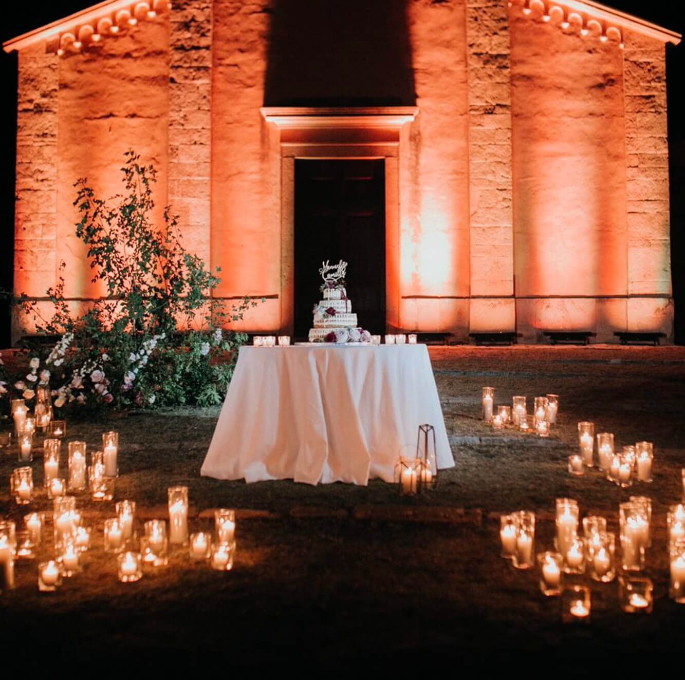 Artistic Light designer creations for your destination wedding in Tuscany, Florence, Siena, Chianti, Val d'Orcia.  Giulia Alessandri Wedding Planner, Wedding Design & Wedding Coordination in Tuscany.