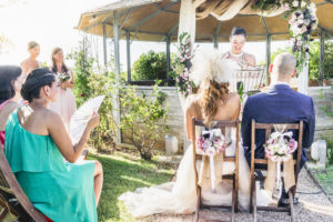 Symbolic wedding in Tuscany