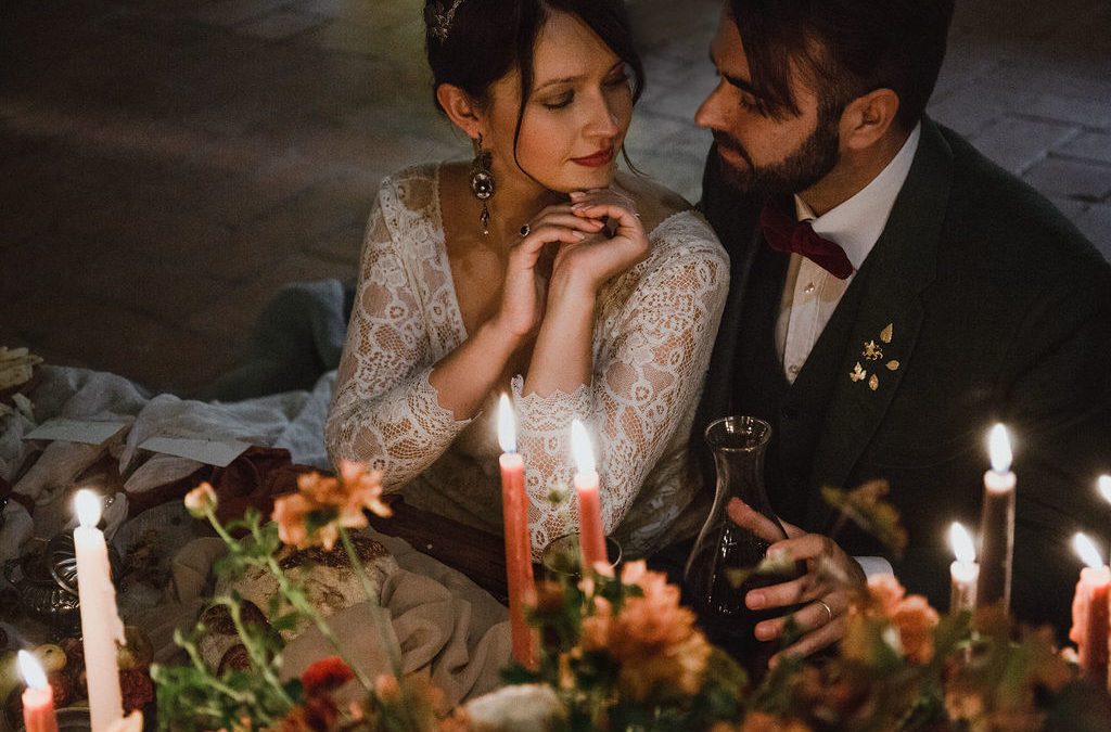 Autumn wedding in Tuscany between the vineyards and the magic of the foliage