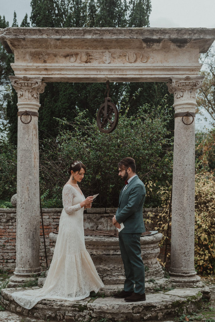 Elopement wedding in Tuscanye